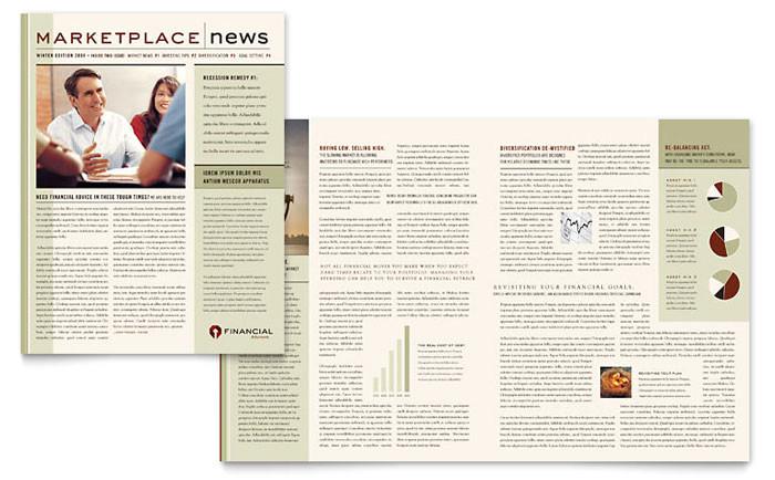 financial planner newsletter template design fn0240301