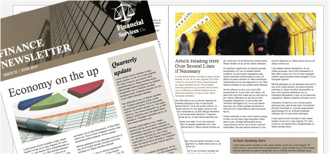 newsletter financial company theme