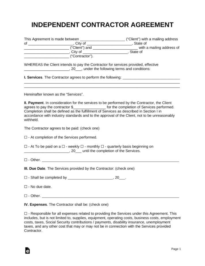 fitness instructor contract agreement template