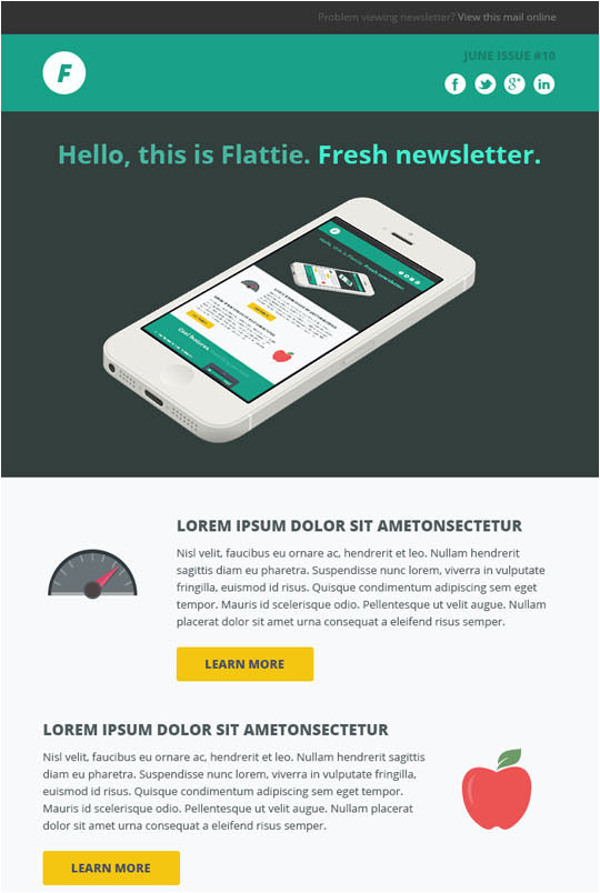 20 best flat style responsive email templates