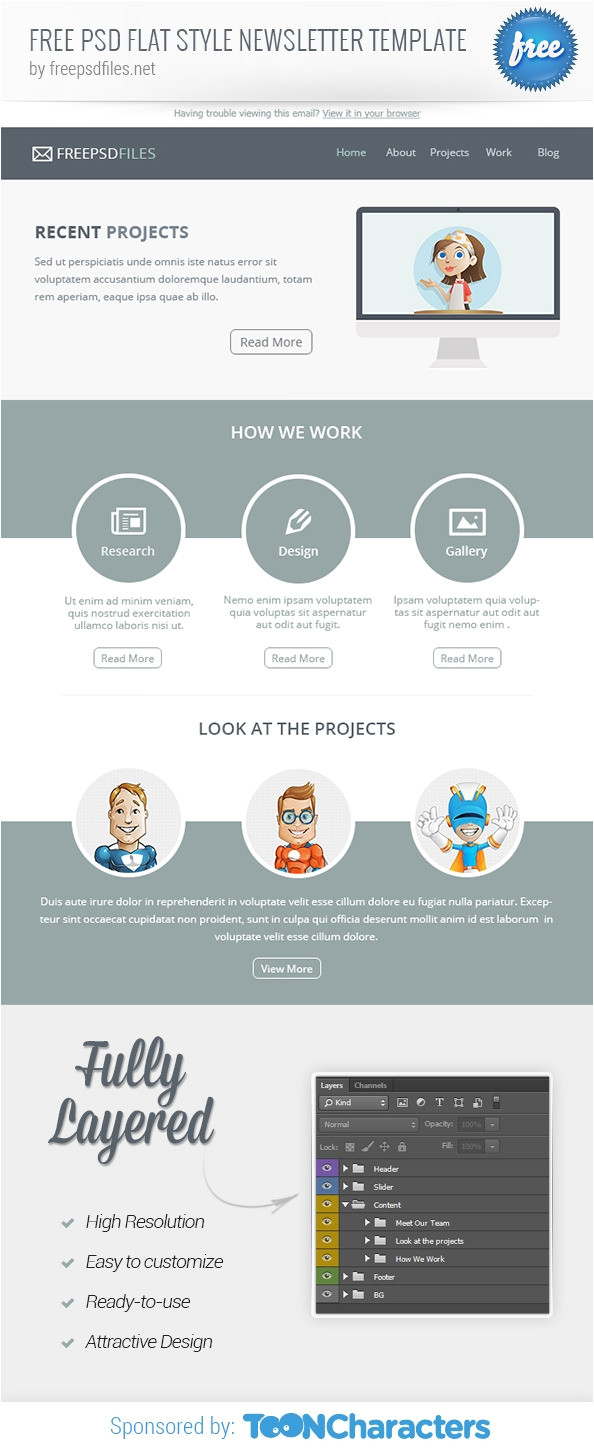 html psd email newsletters