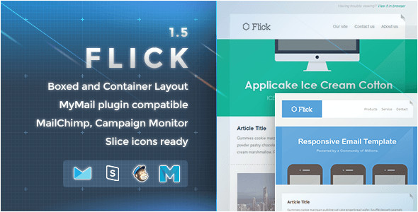 7 flat material design responsive email templates