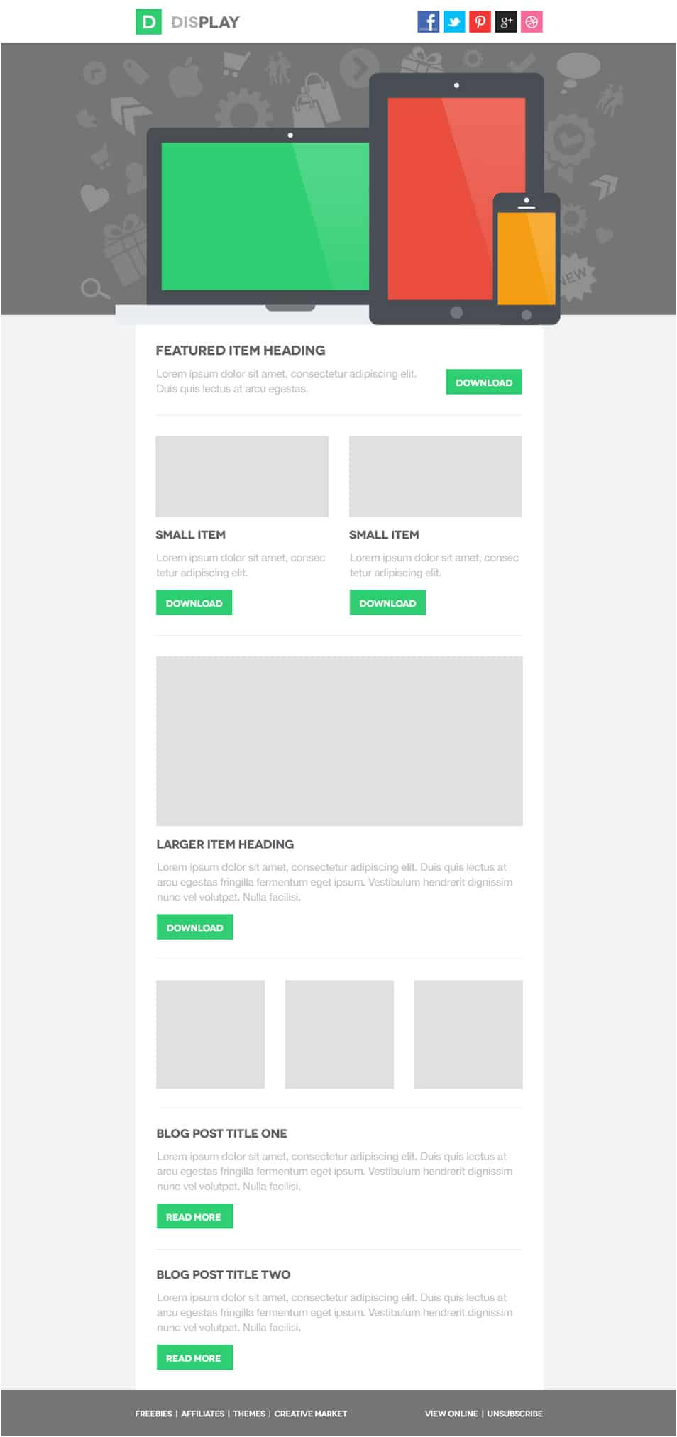 free email newsletter design templates