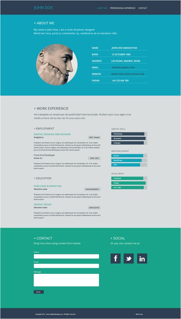 flat resume templates