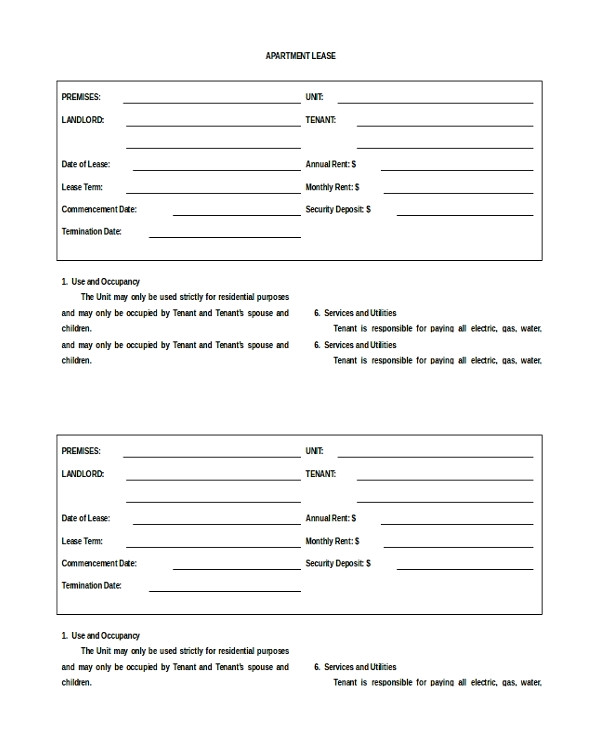 Flat Rent Contract Template 20 Apartment Rental Agreement Templates Free Sample