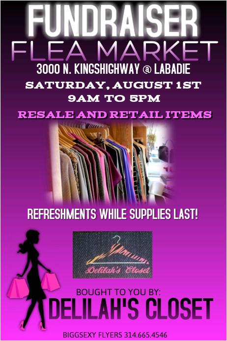 fundraiser flea market retail flyer
