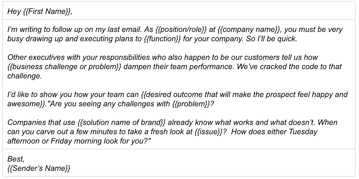 sales follow up email guide