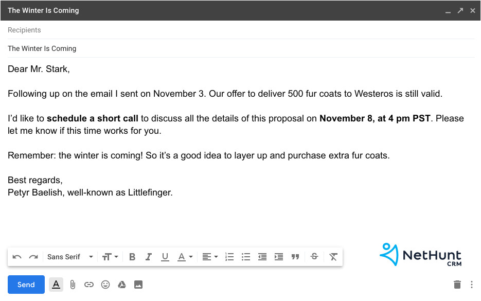 how to write a follow up email to client after quotation