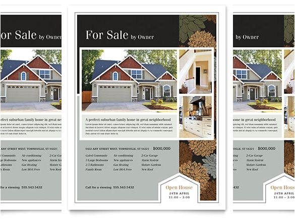 word real estate flyer