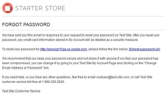 forgot your password email template