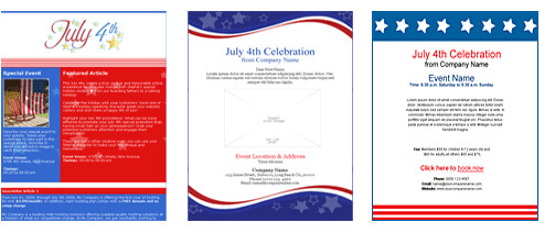 4th of july email templates and my summer camp story