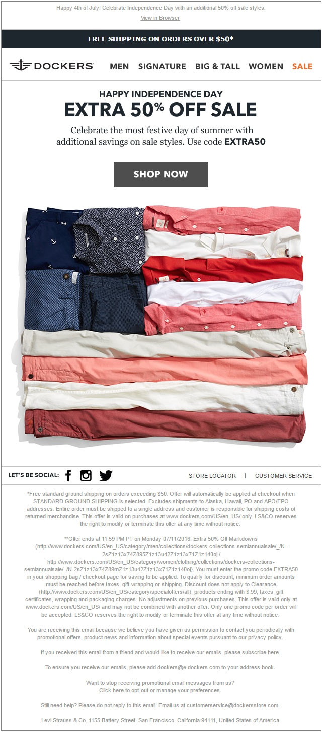 13 email inspirations fueling independence day sales