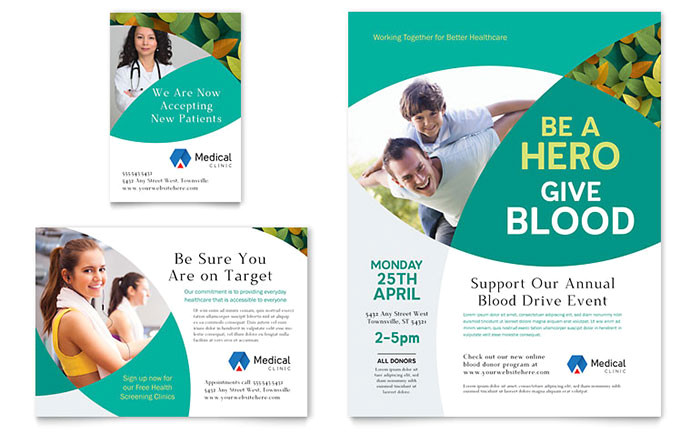 doctors office flyer ad template design md0450701