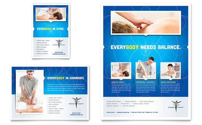 reflexology massage flyer ad template design md0330701