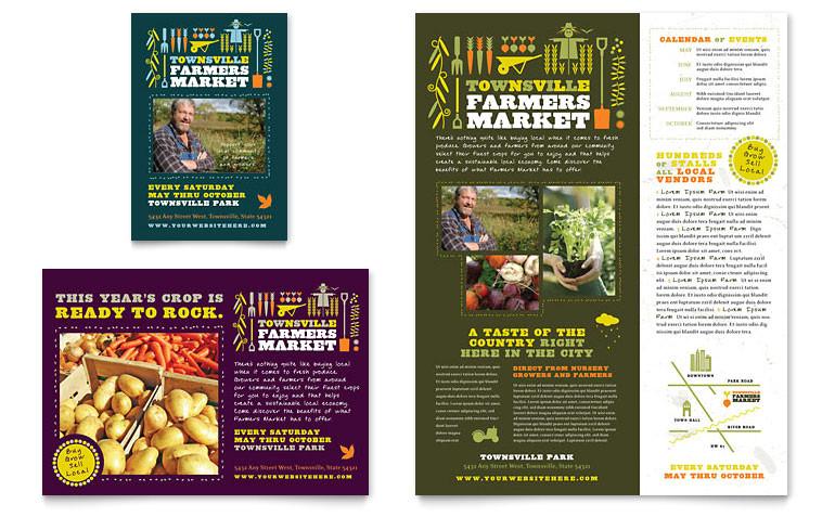 farmers market flyer ad templates af0020701d