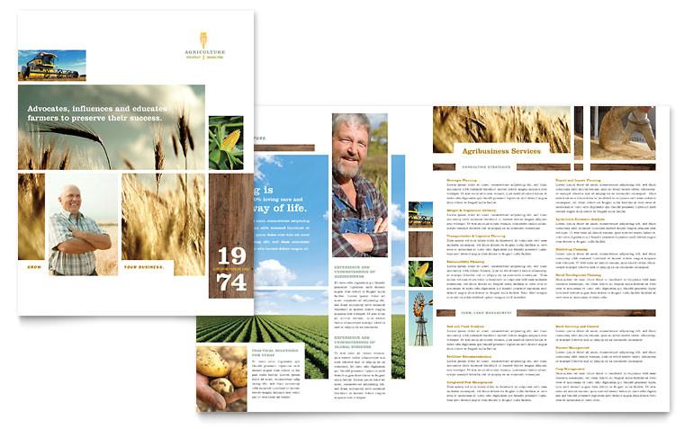 farming agriculture brochure templates af0030101d