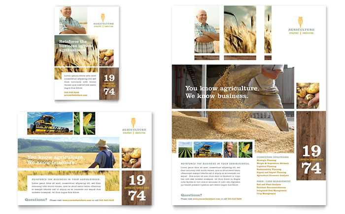 farming agriculture flyer ad template design af0030701