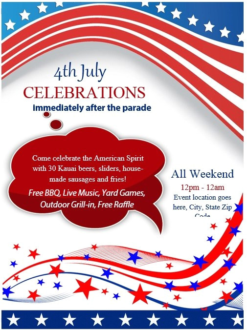 4th july flyer templates