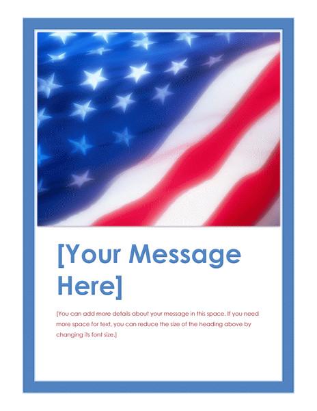 american flag flyer 963