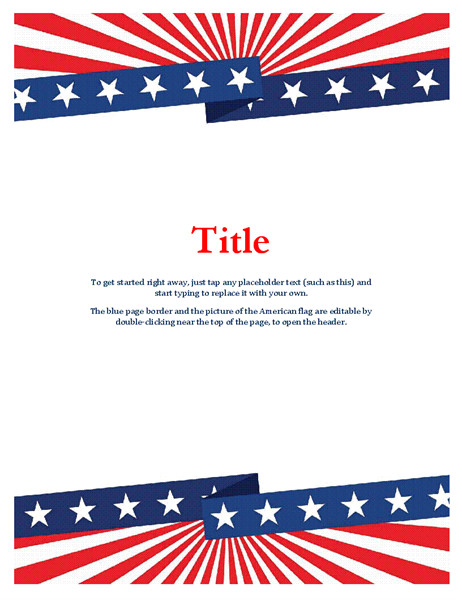 Free American Flag Flyer Template Flyers Office Com