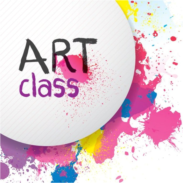 colorful paint splats flyer background 753830