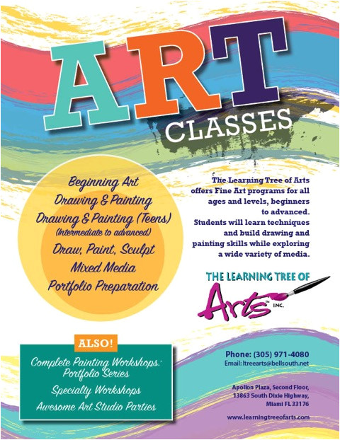 art classesfall 2015 registration is