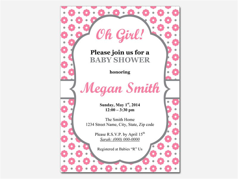 baby shower invitations for word templates