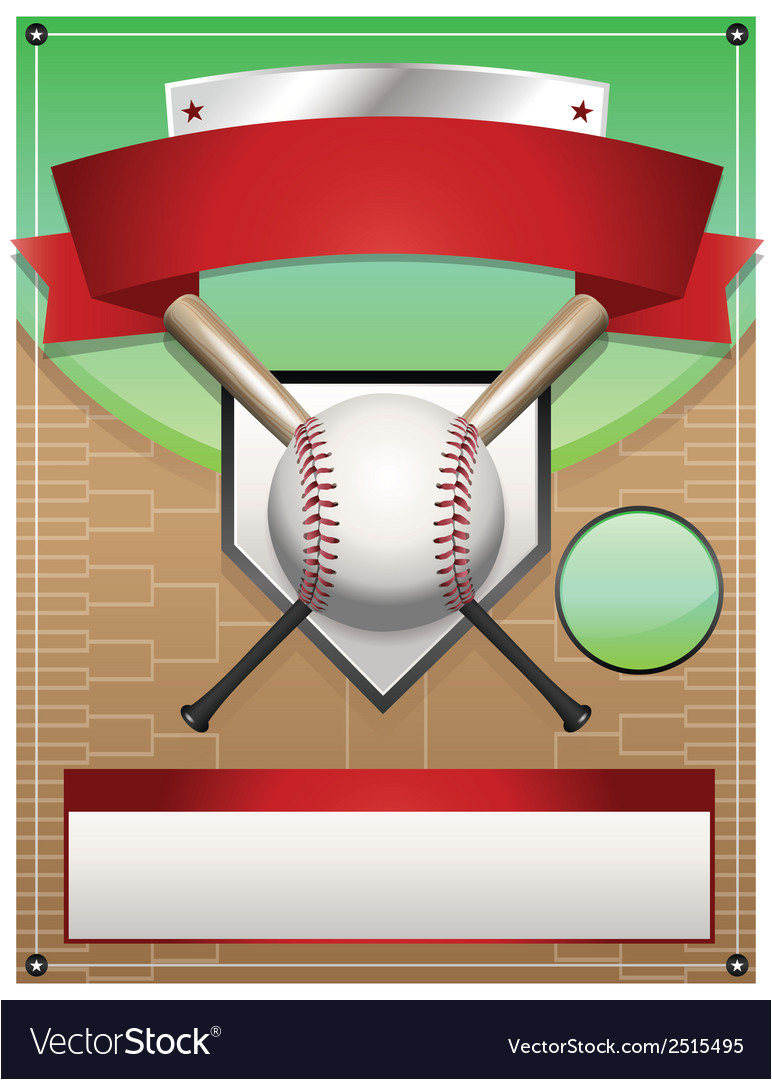 baseball tournament flyer background vector 2515495