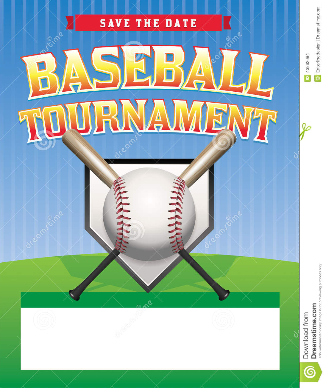 stock illustration baseball tournament illustration flyer room copy space vector eps available eps file contains transparencies gradient image43962094