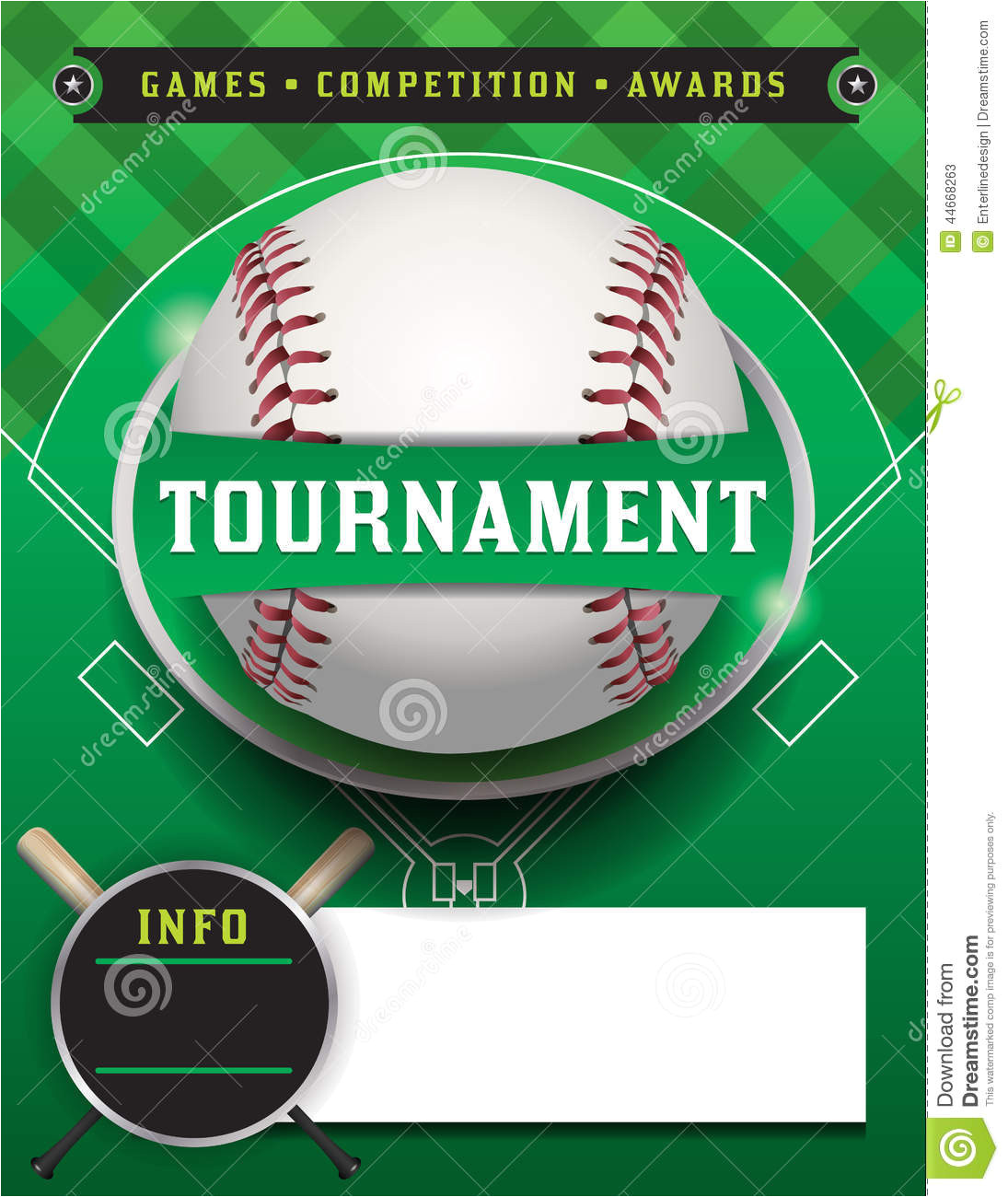stock illustration baseball tournament template illustration flyer room copy space vector eps available eps file contains transparencies file image44668263
