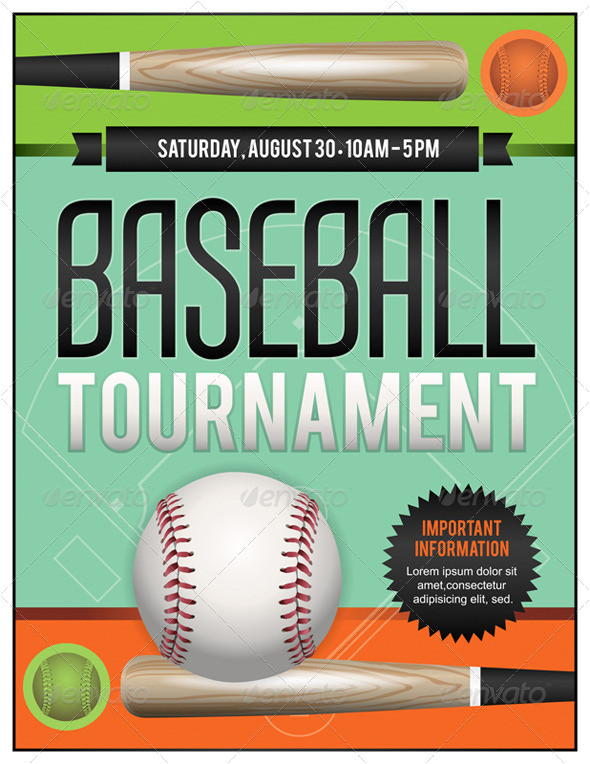 flyer for benefit baseball tournament