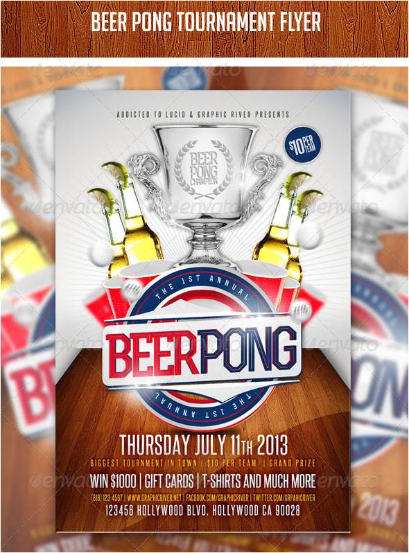 beer pong flyer psd template 391011713