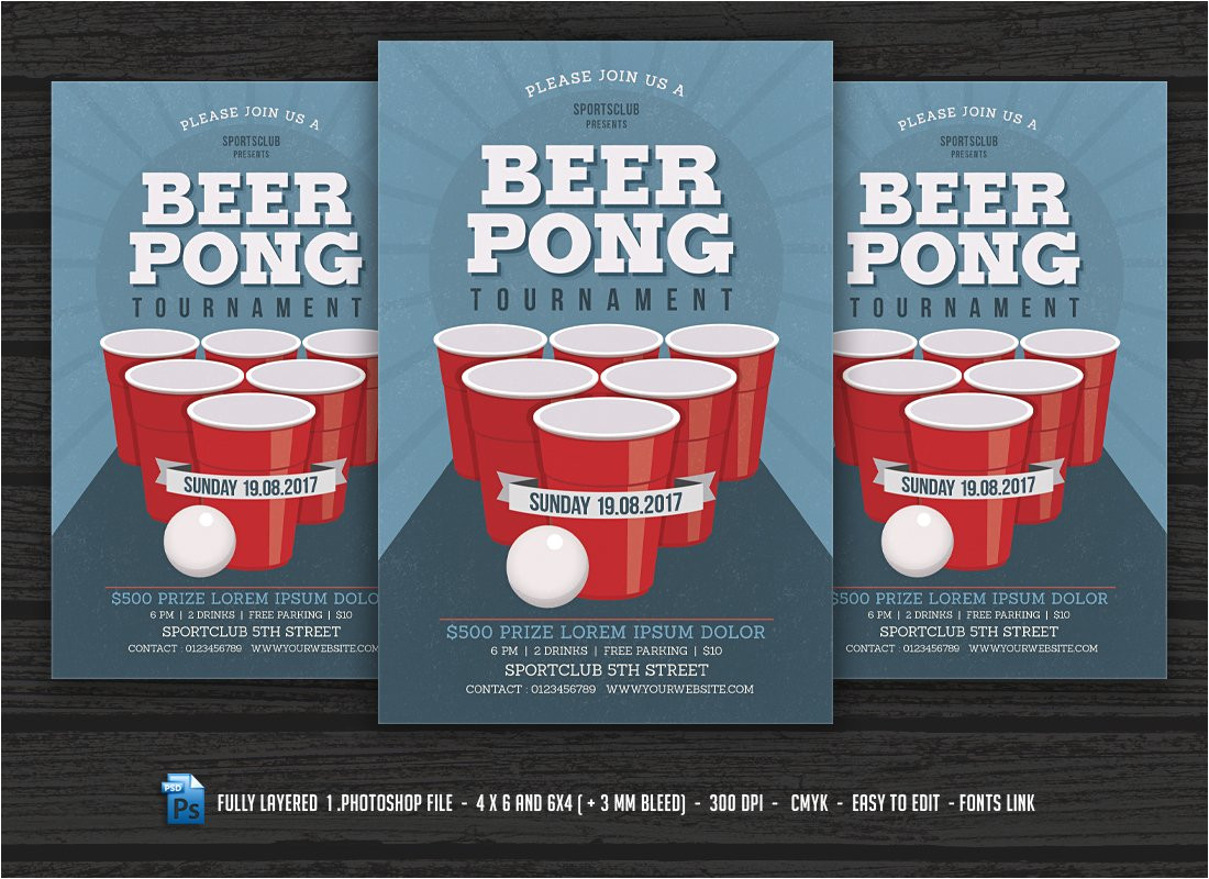 1575591 beer pong party flyer
