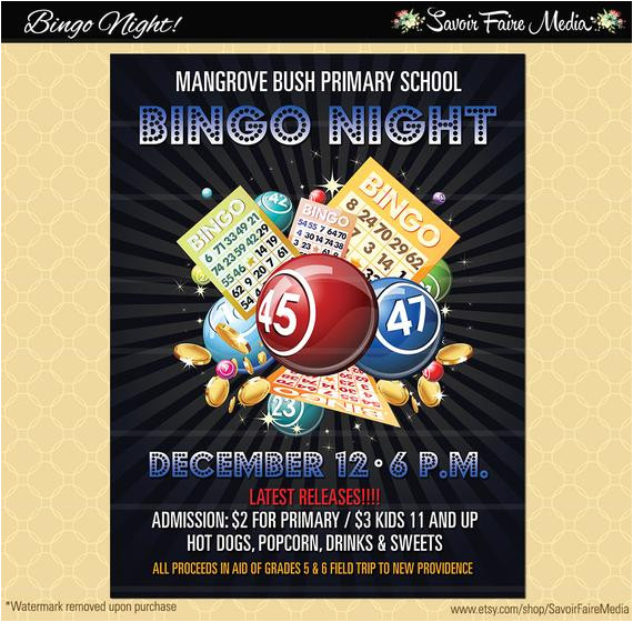 bingo flyer bingo night poster template