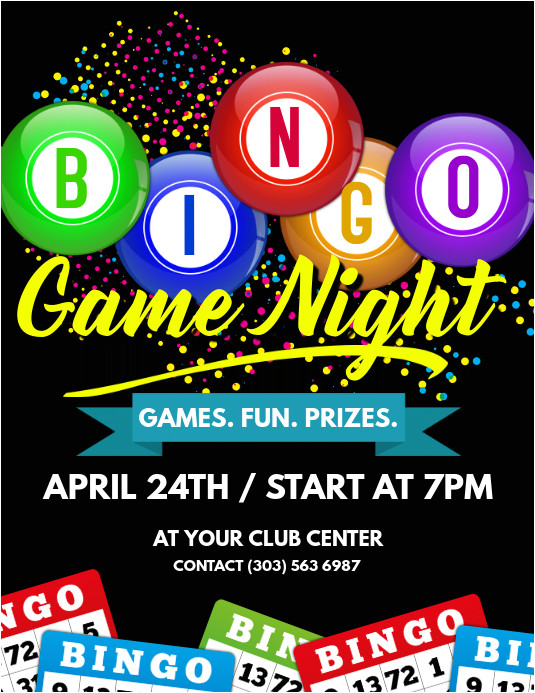 bingo game night flyer template