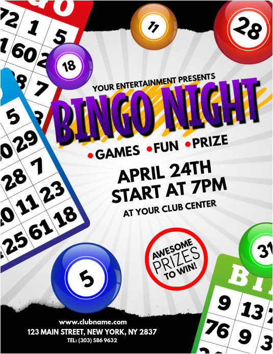 bingo night poster template
