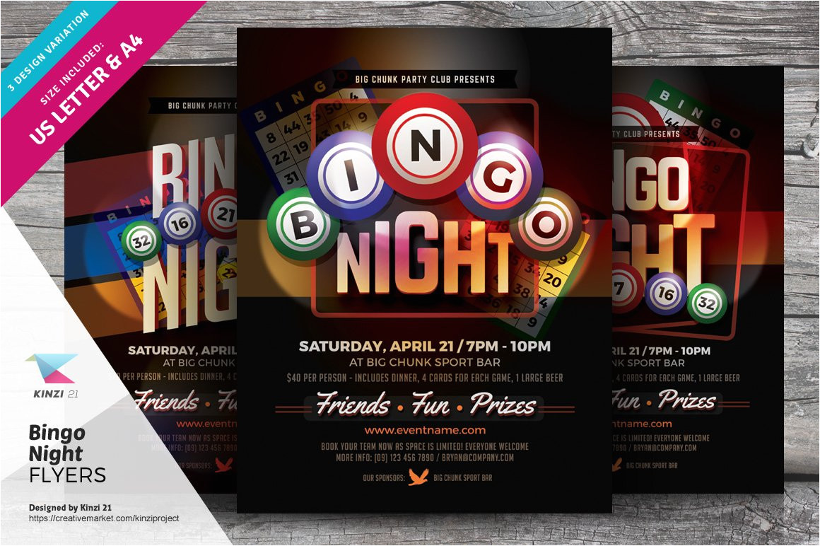 1235875 bingo night flyer templates