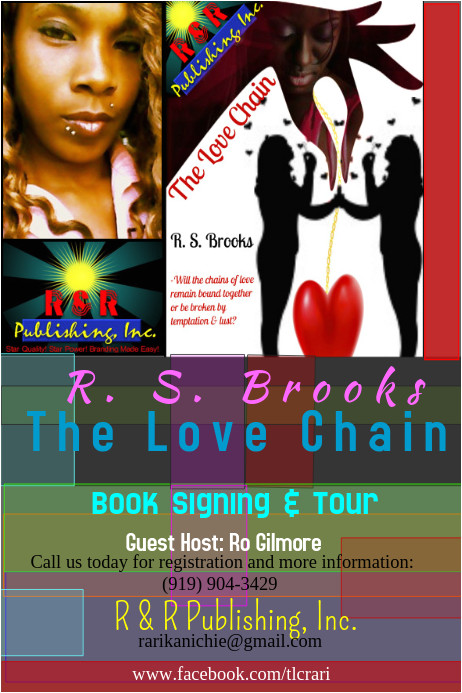book signing promo poster template