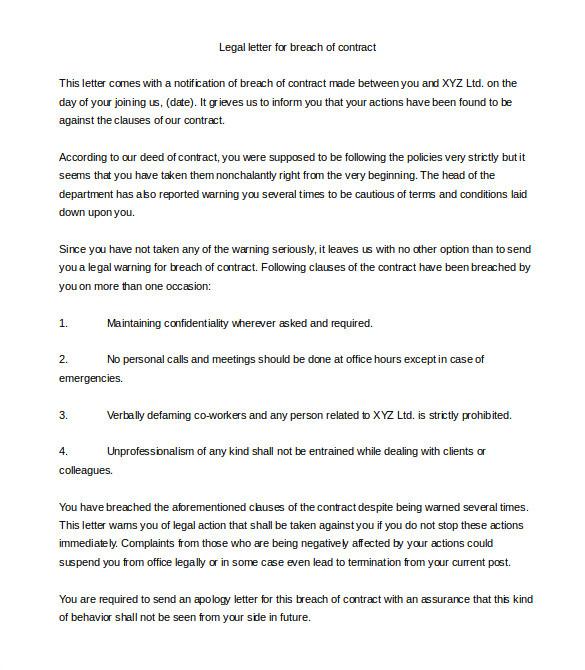 legal letter