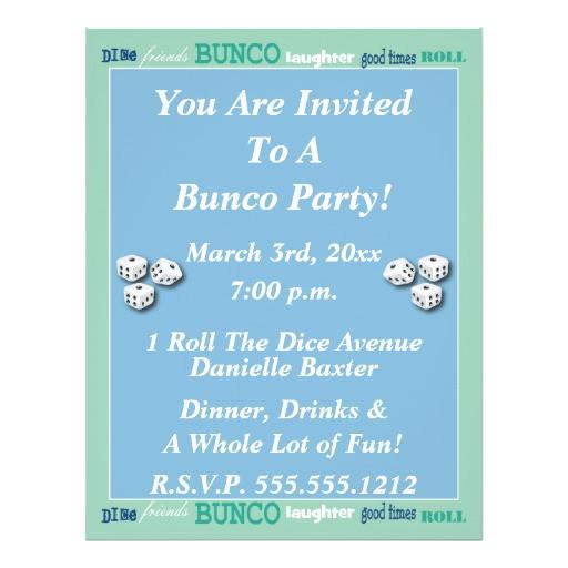 bunco subway art invite full color flyer 244108628706726776