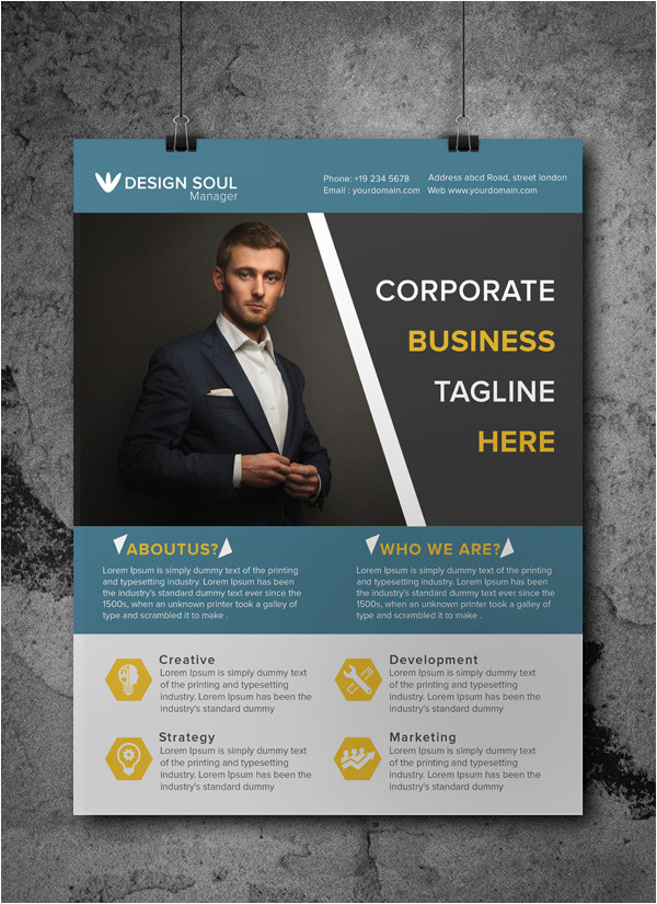 Free Business Flyer Templates Online Free Corporate Business Flyer Psd Template Freebies