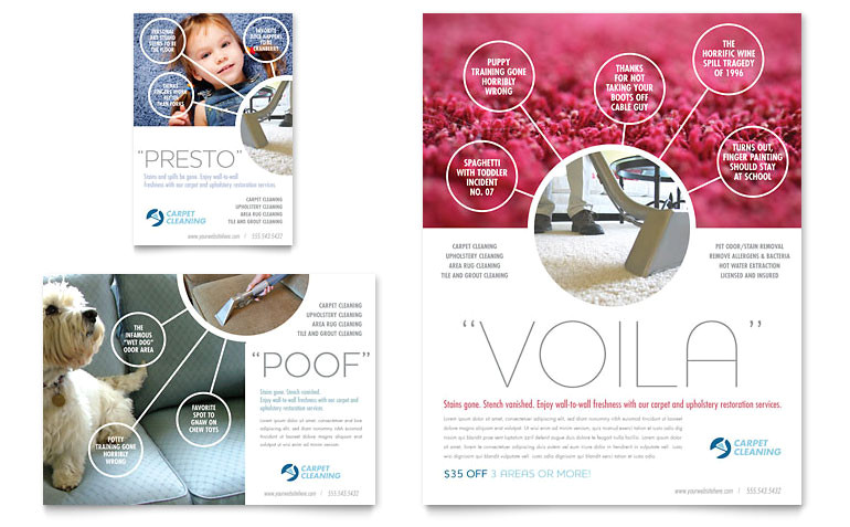 carpet cleaning flyer ad templates hm0040701d
