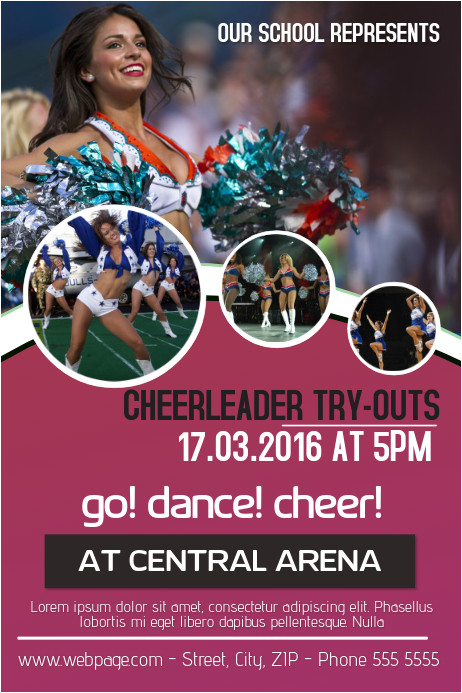 cheerleading posters