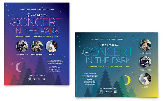 summer concert poster templates ma0110601d