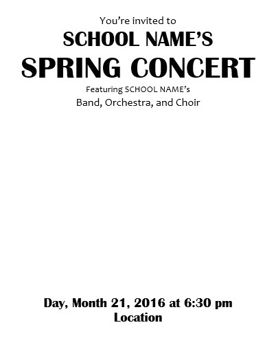 template for concert program