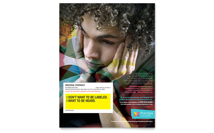 adolescent counseling flyer template design md0221501