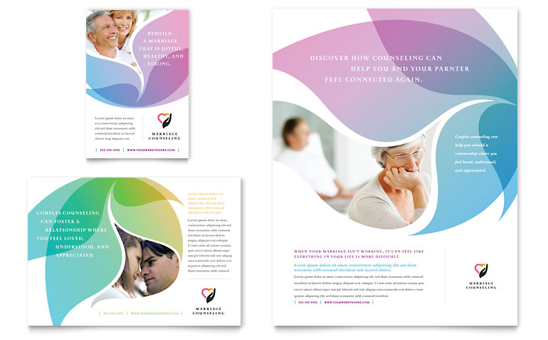 Free Counseling Flyer Template Marriage Counseling Flyer Ad Template Word Publisher