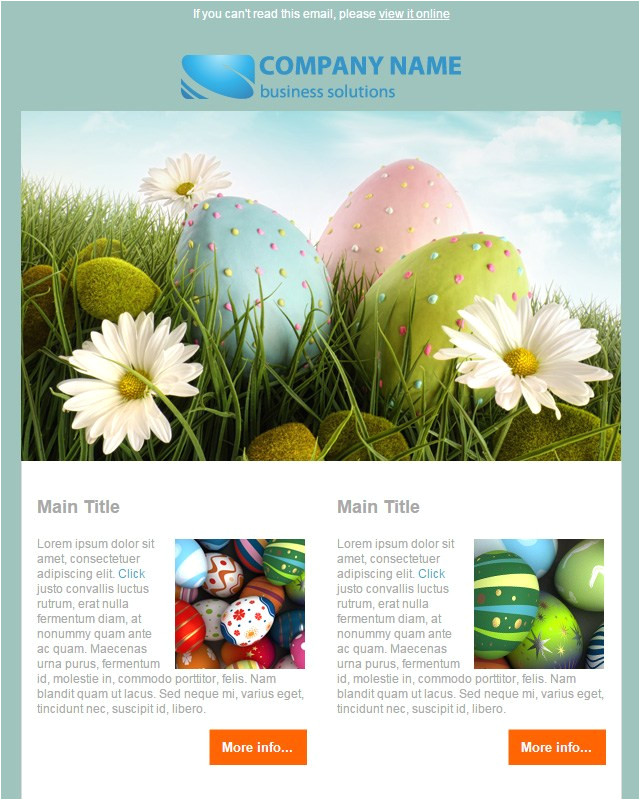 20 free easter email templates for sendblaster