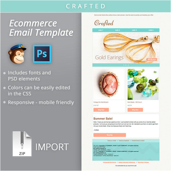 Free Ecommerce Email Templates Mailchimp Ecommerce Email Template Email Templates On