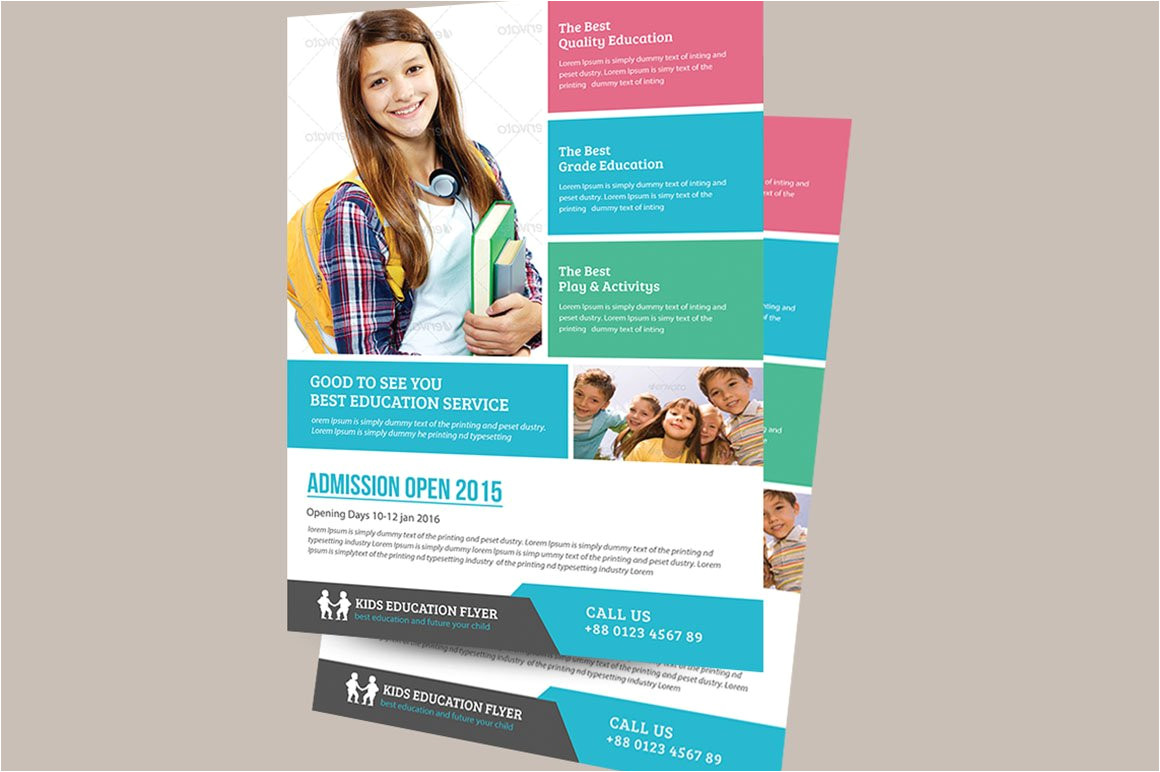 355346 education flyer template